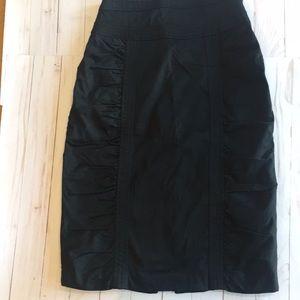 Nanette Lenore Shirred panel black skirt size 4